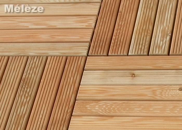 Caillebotis terrasse bois 100x100