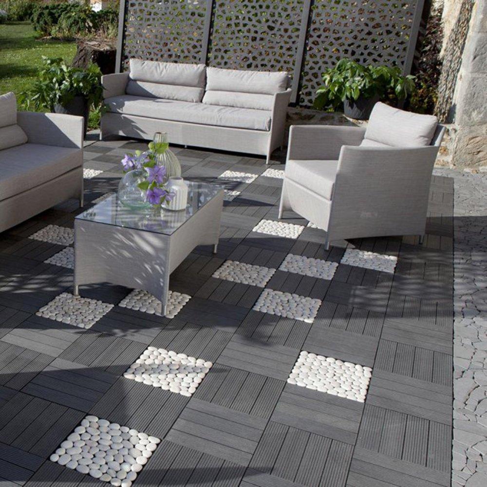 Terrasse caillebotis bois composite