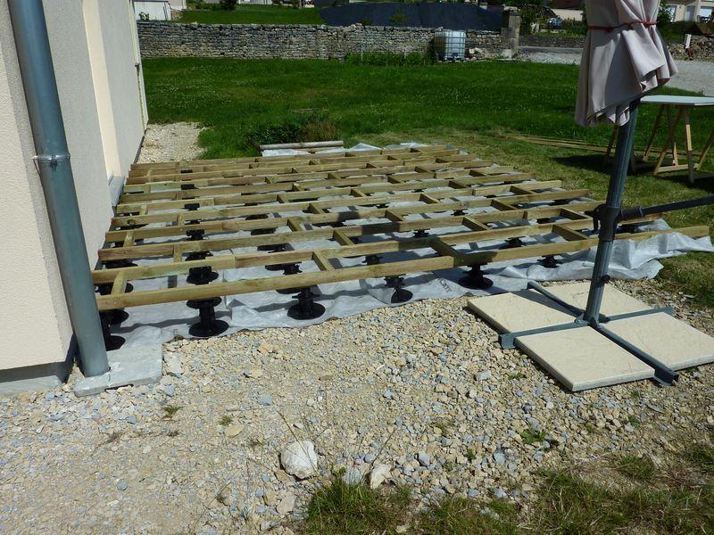 Terrasse bois composite sol meuble