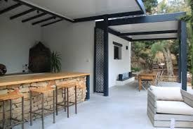 Terrasse couverte beton