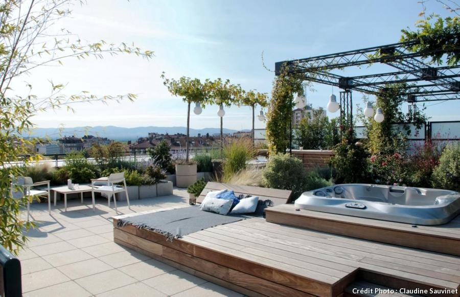 Terrasse Amenagee Sur Le Toit Mailleraye Fr Jardin