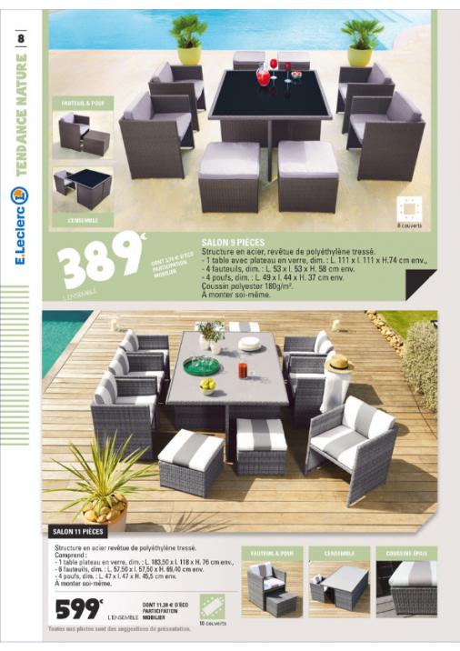 Salon de jardin polyethylene tresse - Mailleraye.fr jardin