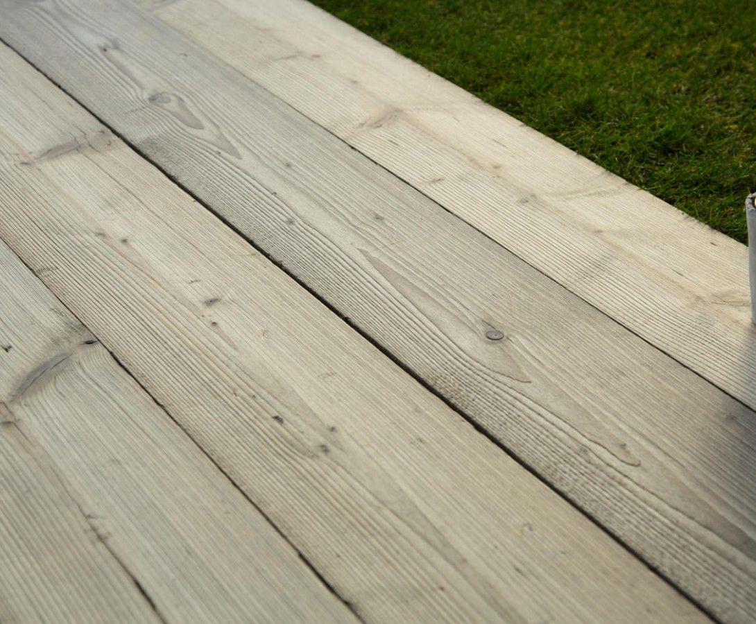 Terrasse bois vieilli