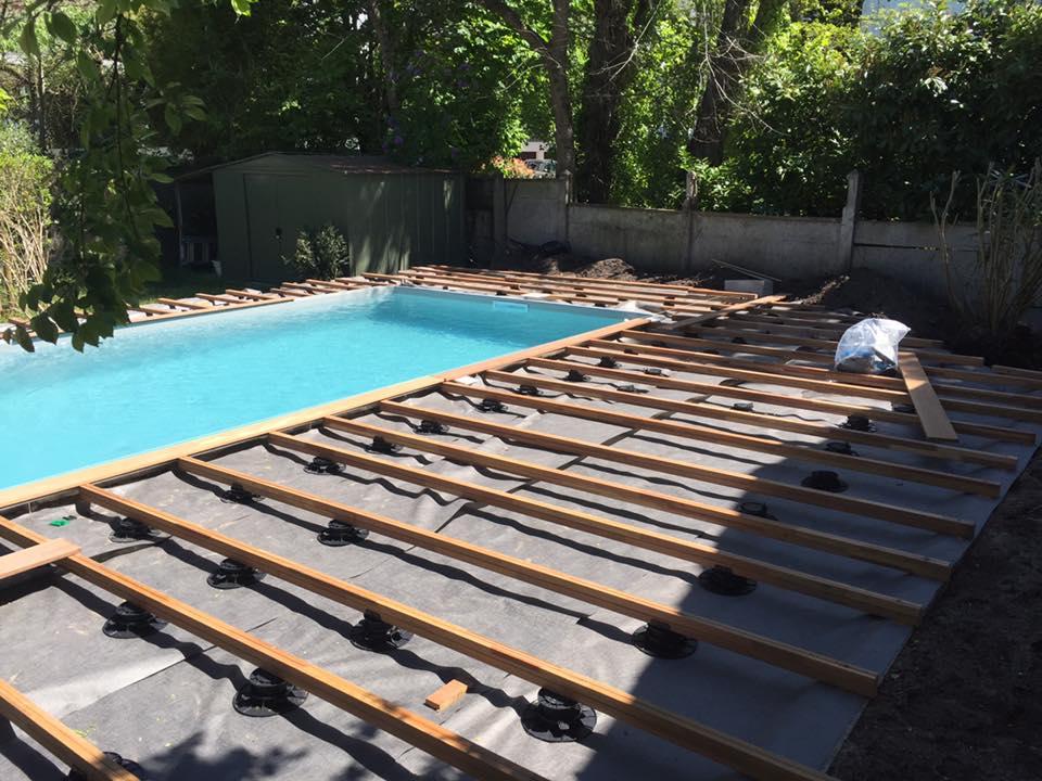 Pose terrasse autour piscine
