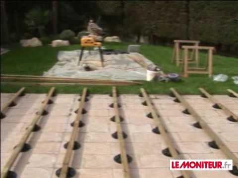 Video terrasse bois sur plot
