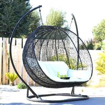 Mobilier de jardin balancelle oeuf
