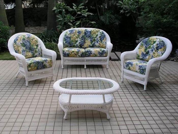 Salon de jardin osier vintage - Mailleraye.fr jardin