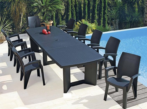 salon de jardin en plastique allibert jardin. Black Bedroom Furniture Sets. Home Design Ideas