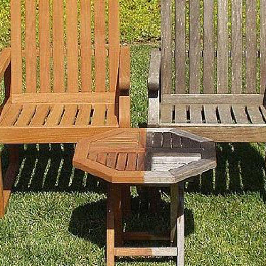 Nettoyage mobilier de jardin en teck