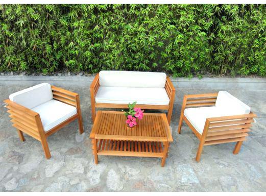Salon de jardin en bois exotique entretien - Mailleraye.fr ...