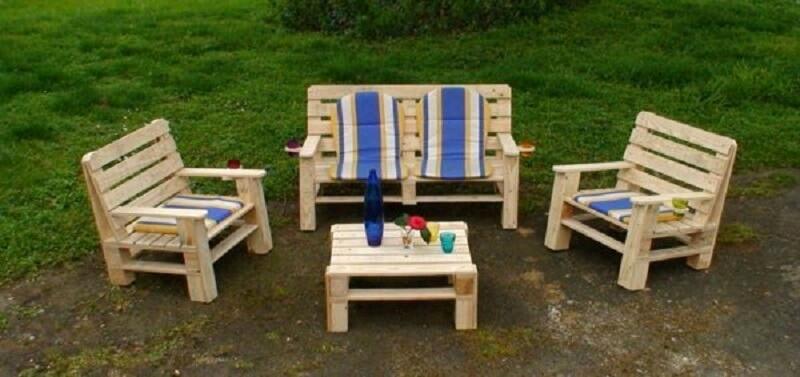 Salon de jardin en bois a fabriquer