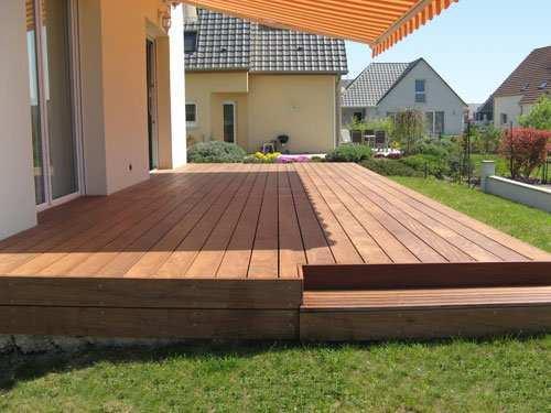 Terrasse dalle beton bois