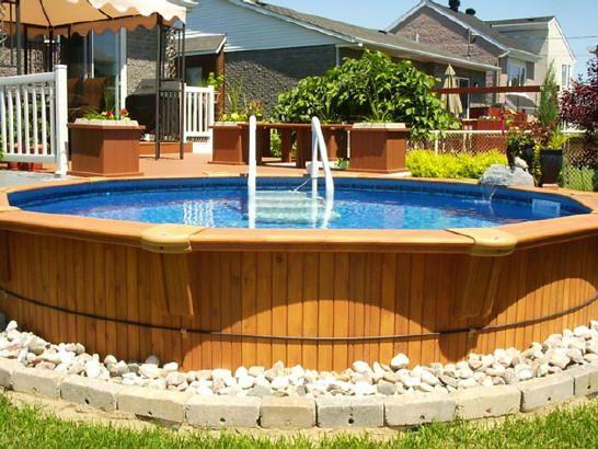 Terrasse autour piscine hors terre