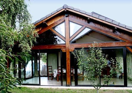 Fermeture d'une terrasse couverte veranda
