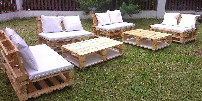 Salon de jardin palette en bois - Mailleraye.fr jardin