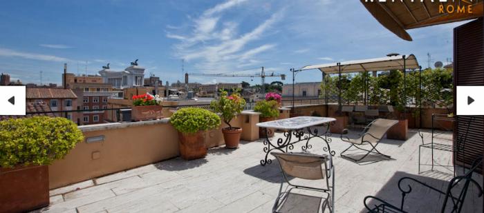 Terrasse avec vue rome