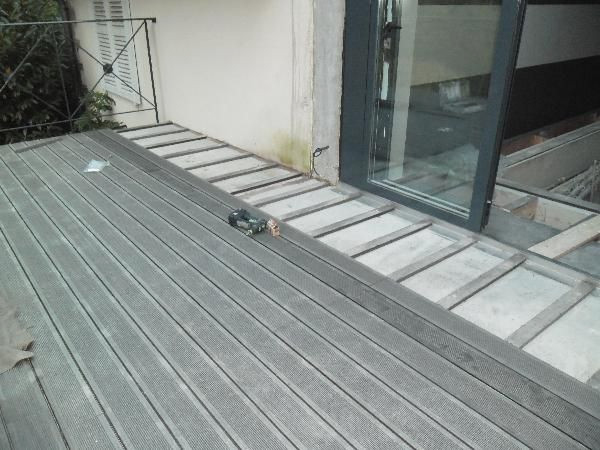 Pose terrasse composite sur dalle beton leroy merlin