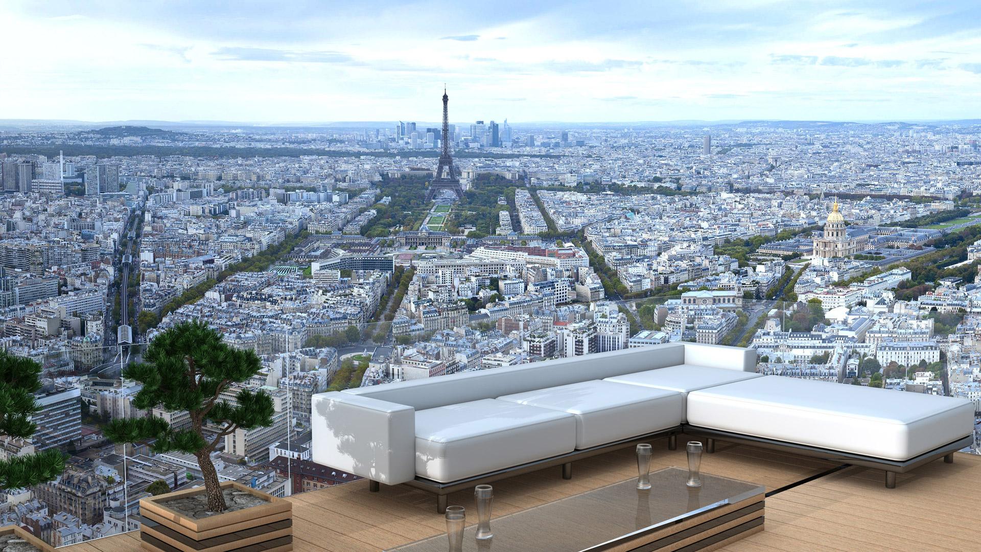 Terrasse avec vue boulogne