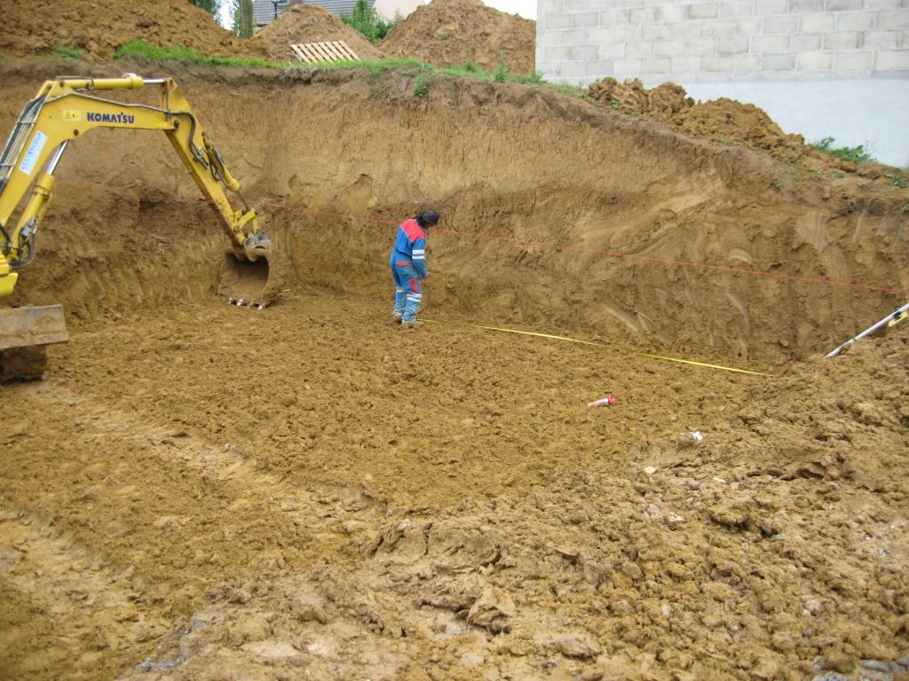 Terrassement des fouilles