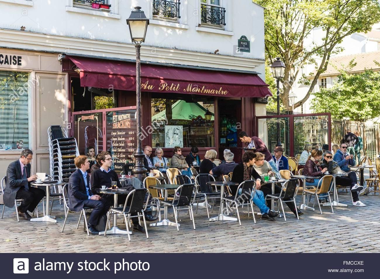 Restaurant terrasse abbesses