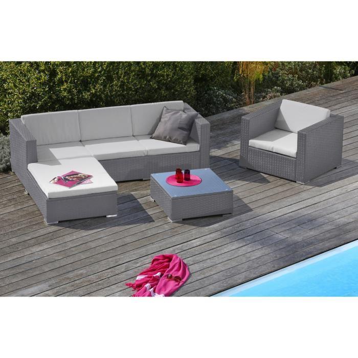 Salon de jardin tressé modulable - Mailleraye.fr jardin