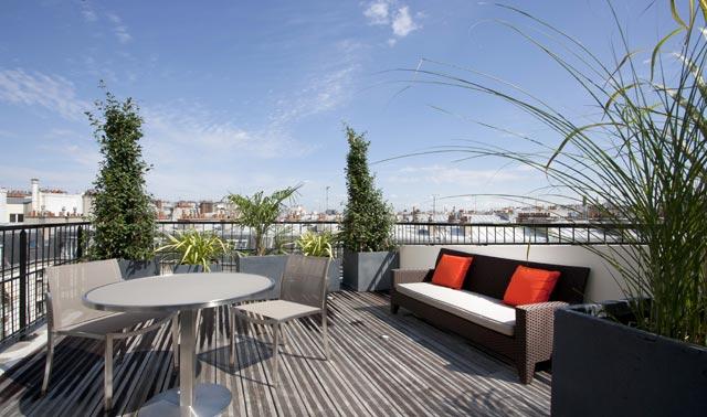 Terrasse hotel de luxe paris jardin - Hotel chambre avec terrasse paris ...