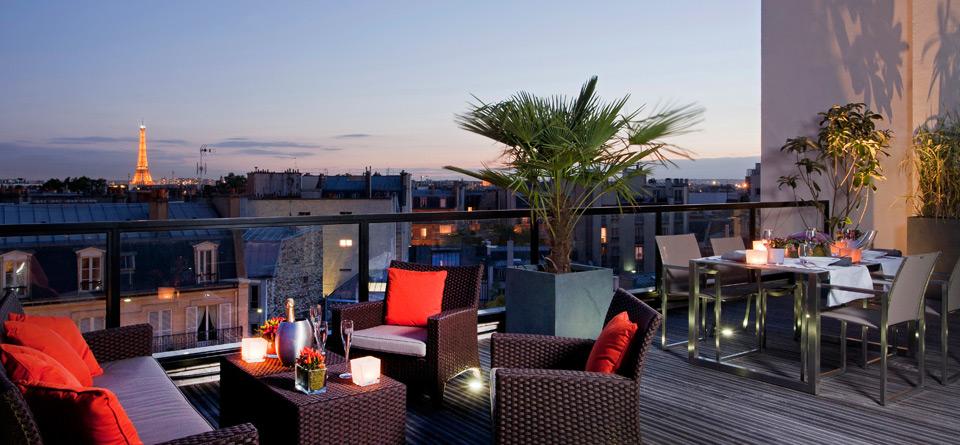 Terrasse hotel luxe paris