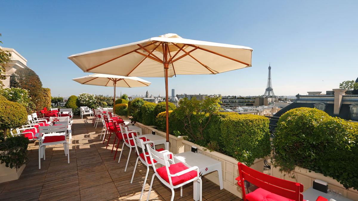 Hotel luxe paris avec terrasse