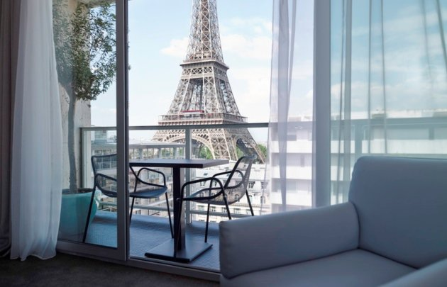 Hotel avec terrasse vue tour eiffel