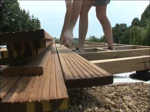 Pose terrasse bois youtube