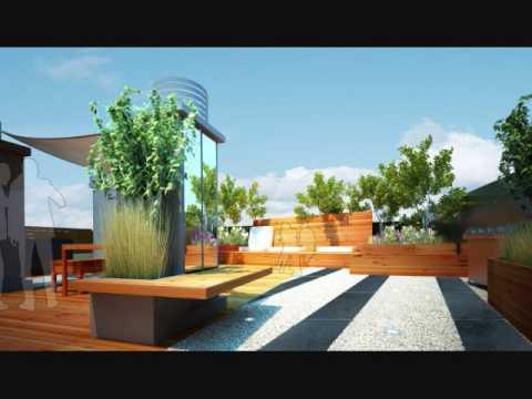 Terrasse aménagée toit