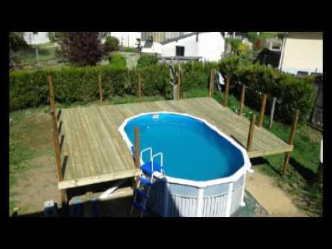 Terrasse autour piscine coque