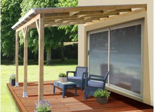 Terrasse couverte en bois - Mailleraye.fr jardin