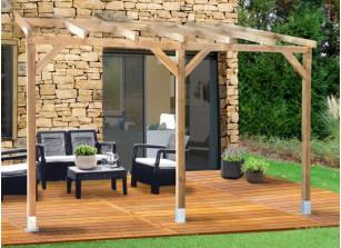Auvent terrasse bois kit