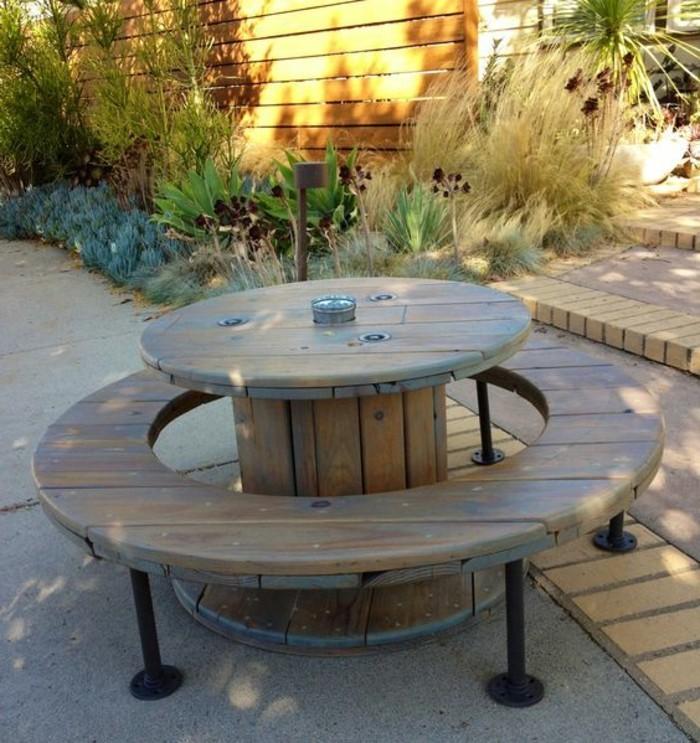 Salon de jardin avec touret - Mailleraye.fr jardin