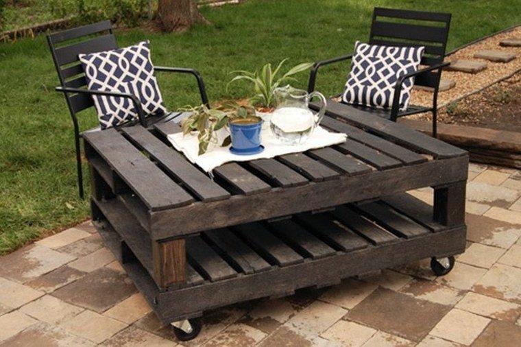 Table basse de salon de jardin en palette - Mailleraye.fr jardin