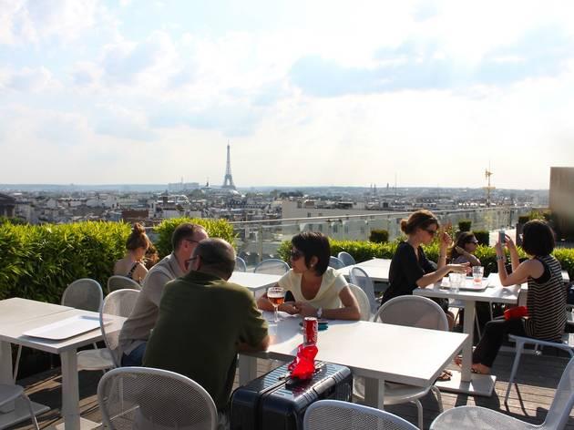 Bar terrasse vue panoramique paris