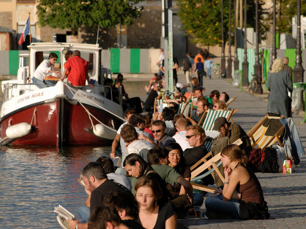 Terrasse canal saint martin paris