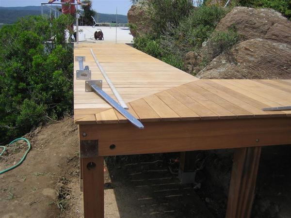 Terrasse bar bois