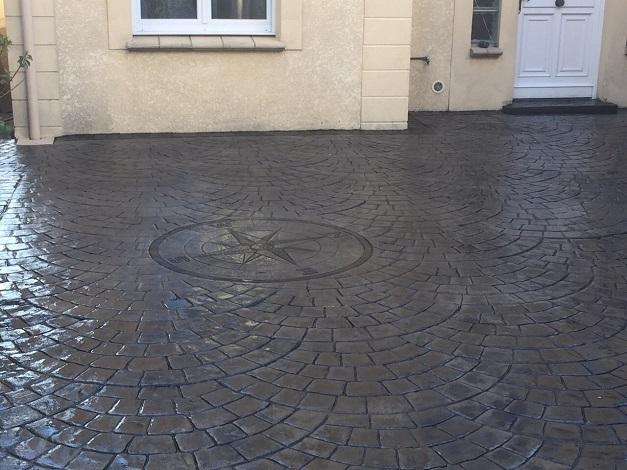Terrasse beton imprimé prix m2