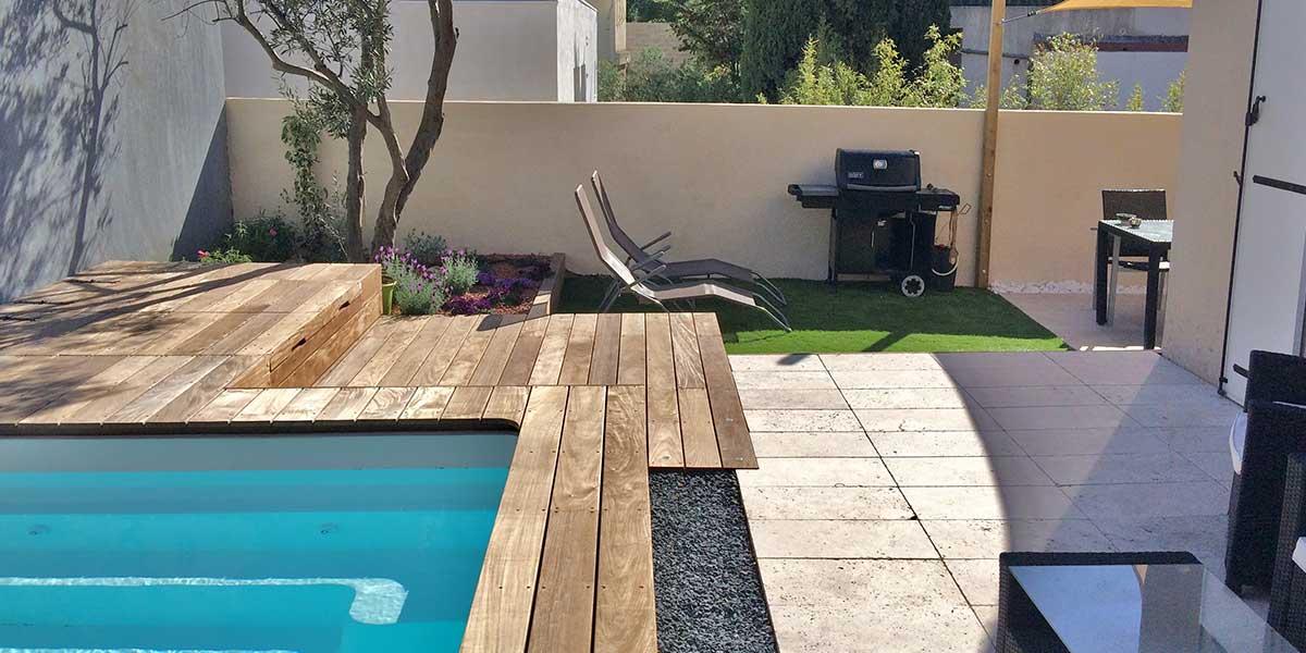 Amenagement petite terrasse avec piscine