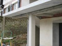 Terrasse beton sur poteaux