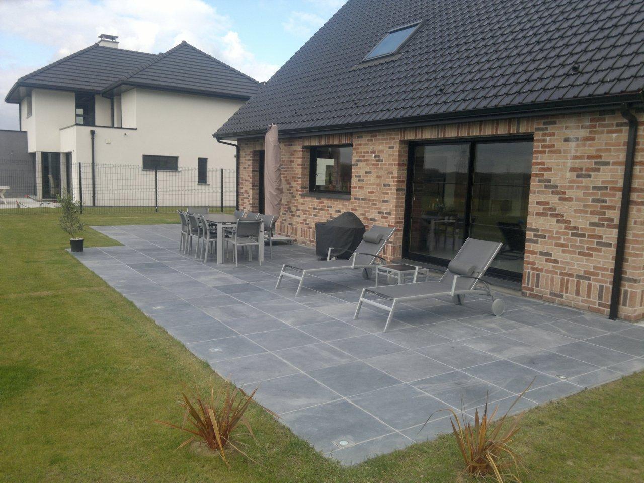 Terrasse autre que beton jardin - Comment realiser une terrasse en bois ...