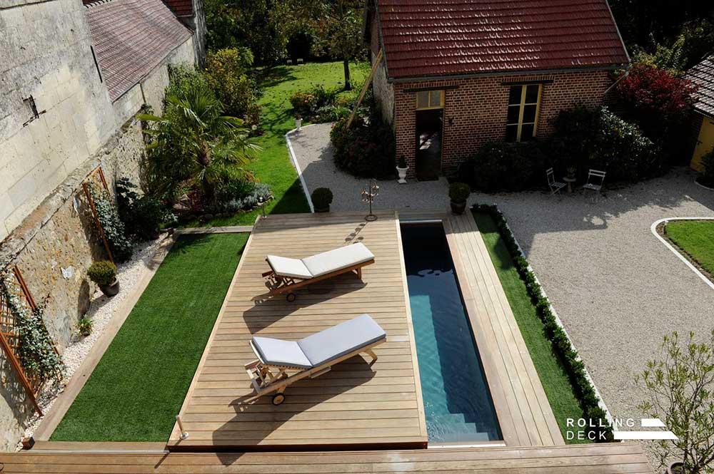 Fermeture terrasse amovible