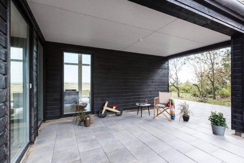 Terrasse couverte bois moderne - Mailleraye.fr jardin