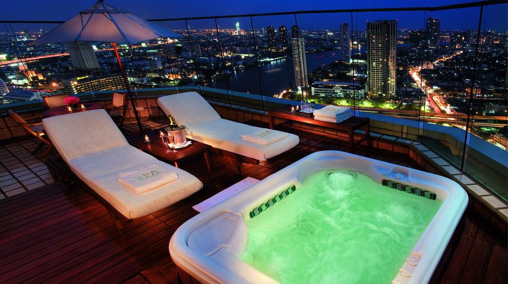 Hotel avec jacuzzi sur terrasse