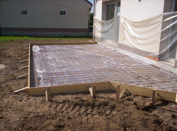 Terrasse beton realiser