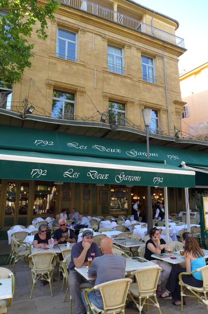 Terrasse café aix en provence