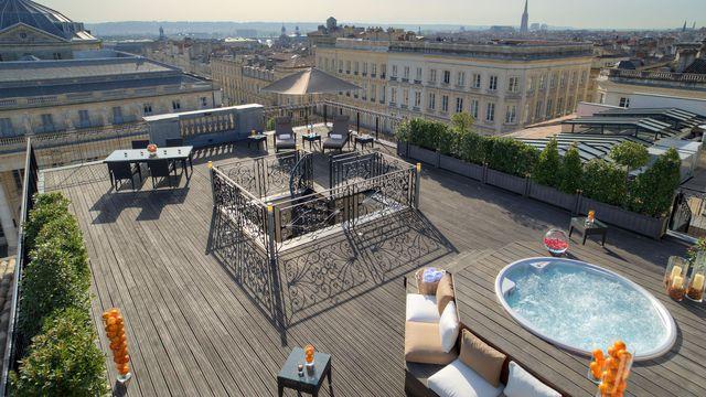 Terrasse hotel bordeaux