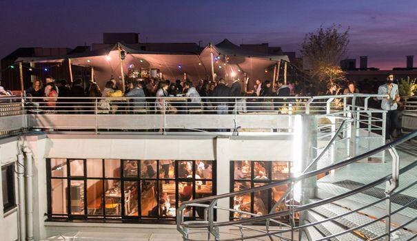 Bar terrasse toit lyon